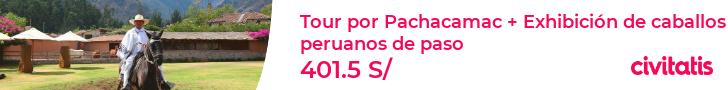 Tour por Pachacamac + Exhibición de caballos peruanos de paso
