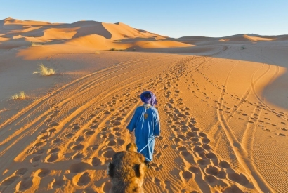 Noche en el desierto de Merzouga