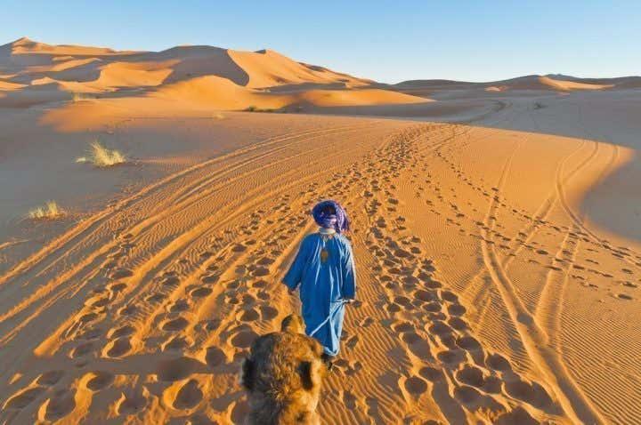 En camello por Erg Chebbi