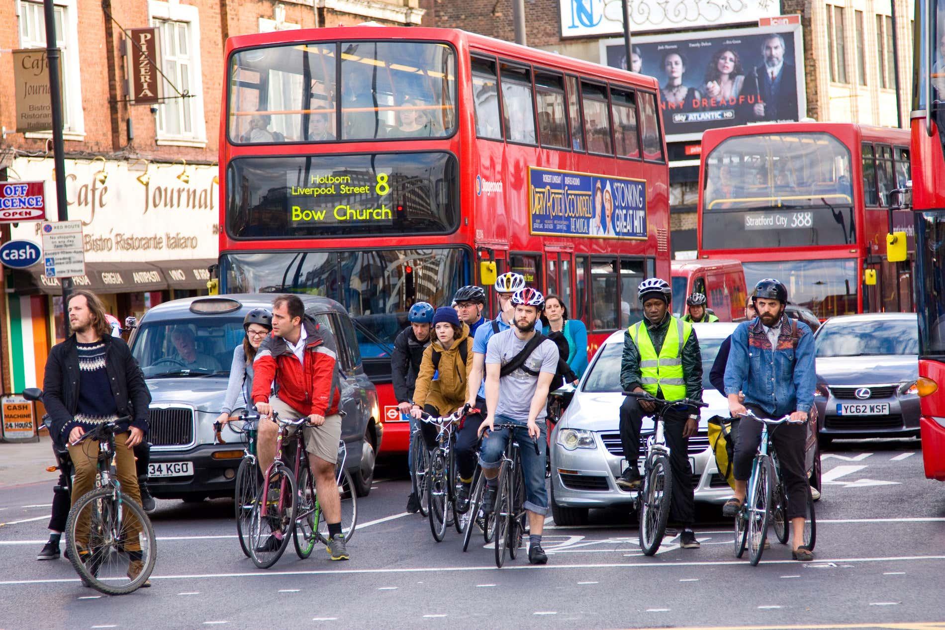 Ciclistas en Londres