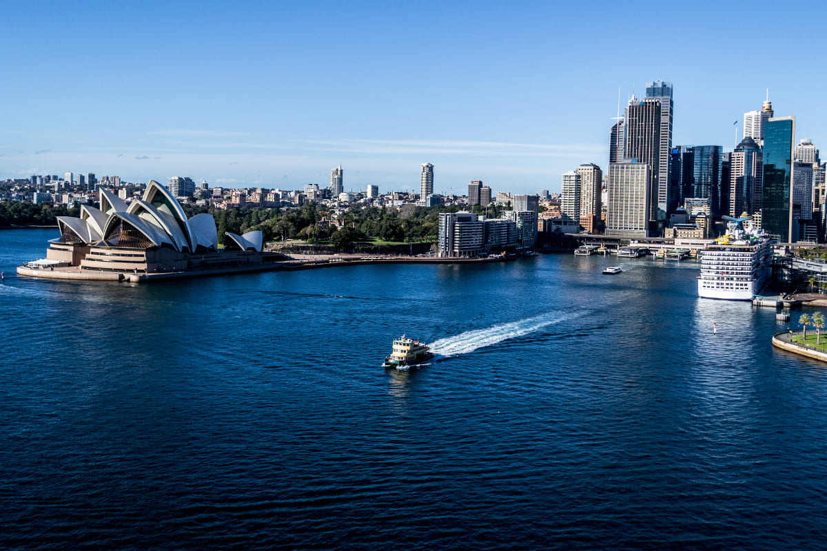Cruising on the Sydney harbour