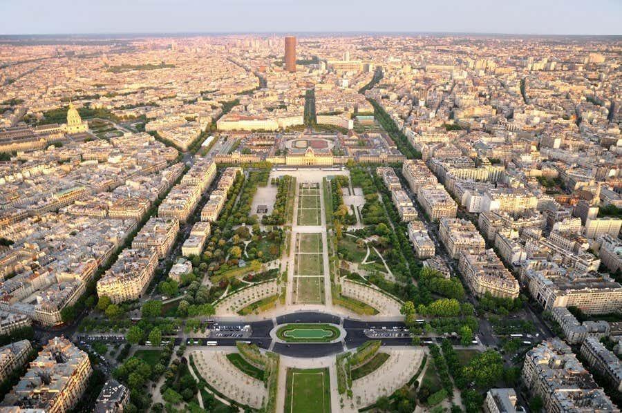 Vista panoramica dalla Torre Eiffel