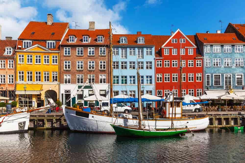 Porto antico di Nyhavn a Copenaghen