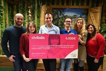 Civitatis entrega la recaudación de su tour navideño a la Fundación Aladina