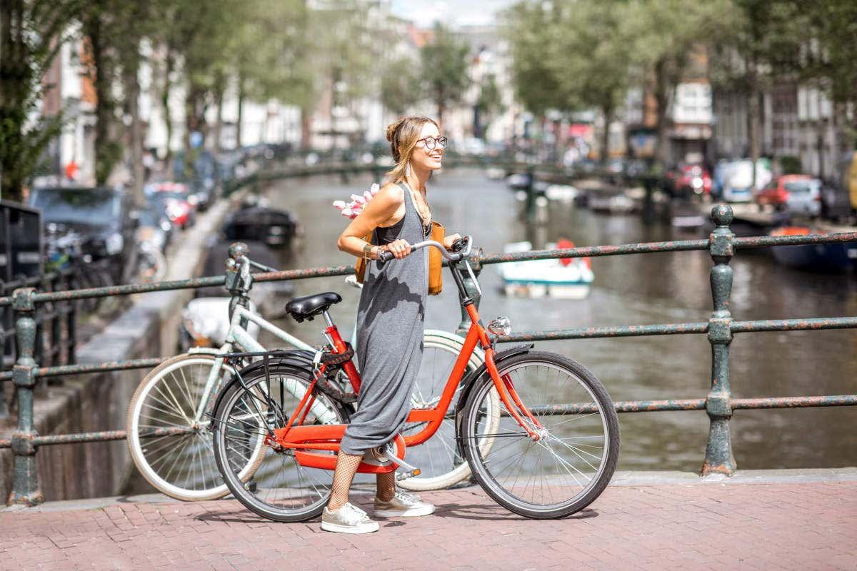 Exploring Amsterdam by bike