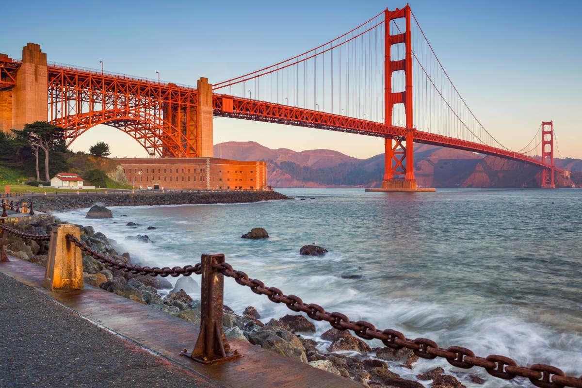 Panorâmica da Golden Gate, em São Francisco