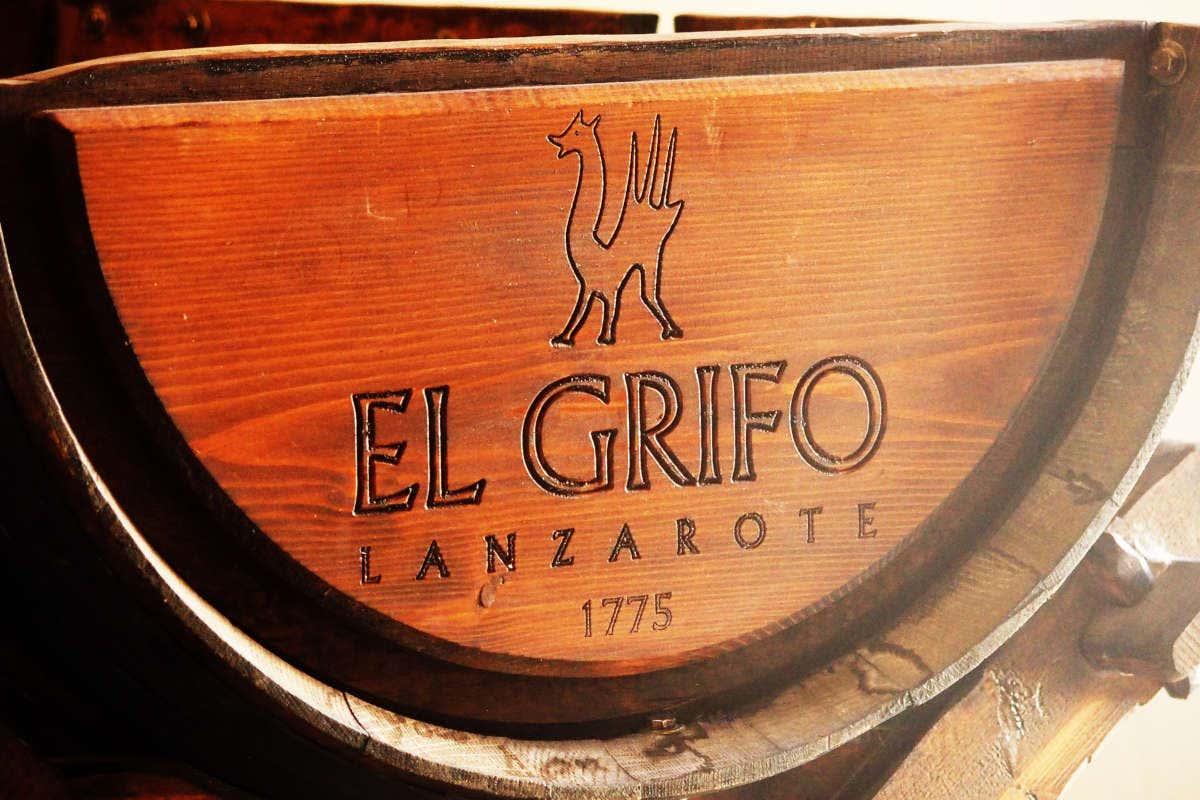 Barril da adega El Grifo, localizada na ilha de Lanzarote