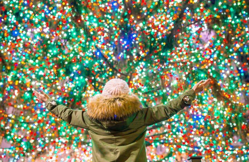 Enjoying the christmas lights