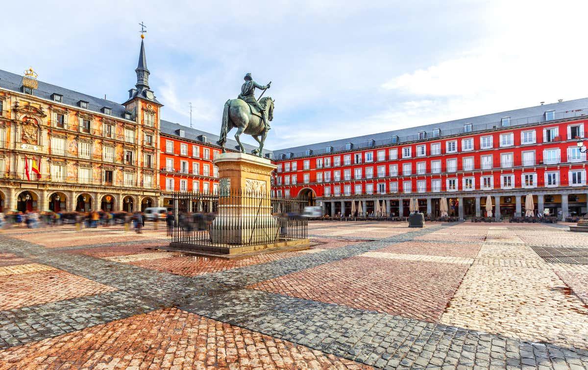 Plaza Mayor di Madrid, in pieno centro storico