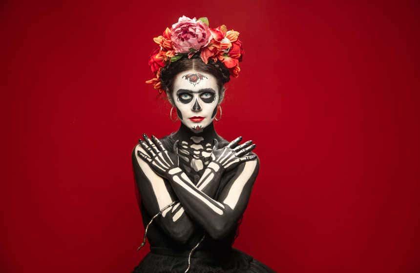 A death mask costume