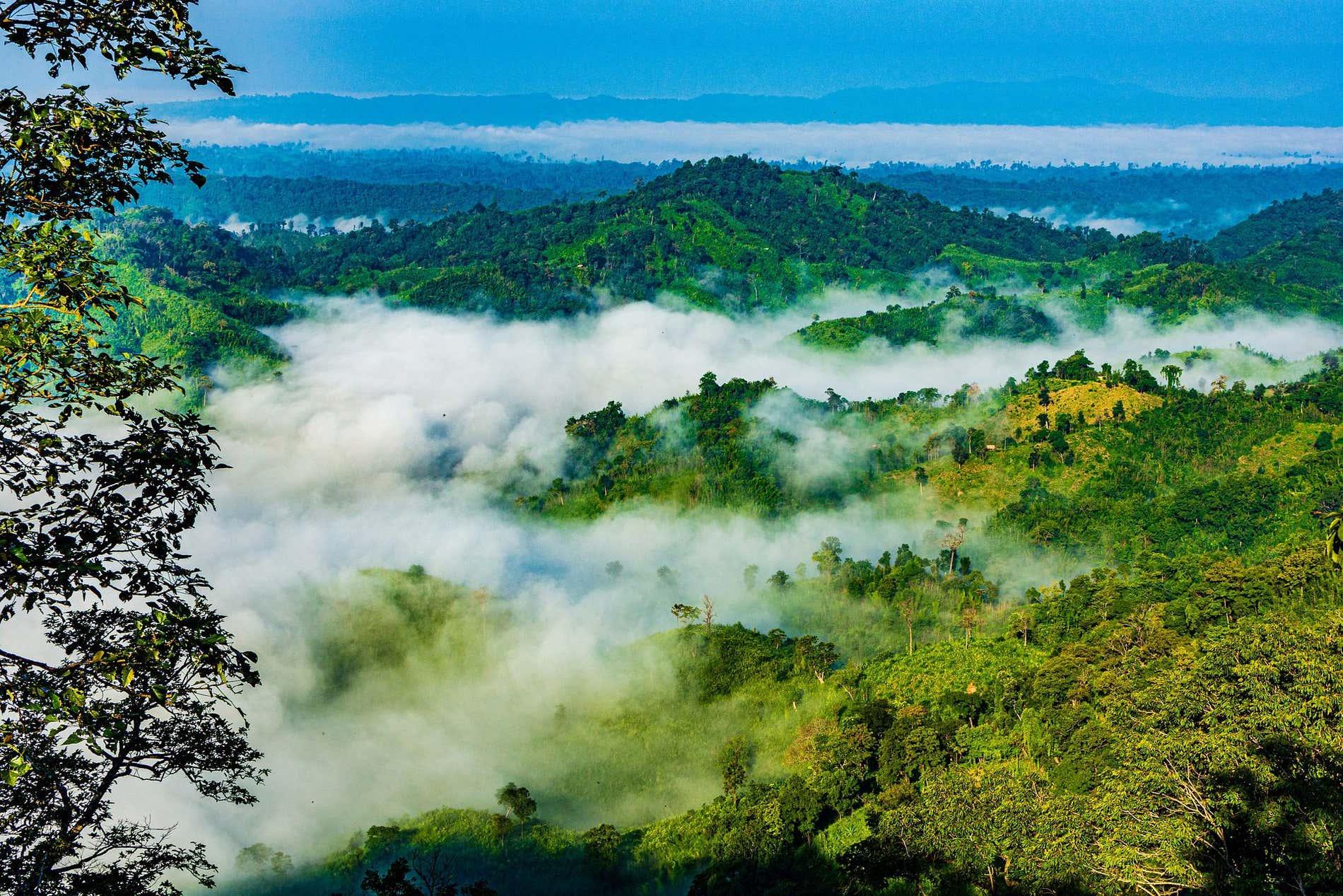 Vista panoramica di Sajek, in Bangladesh,