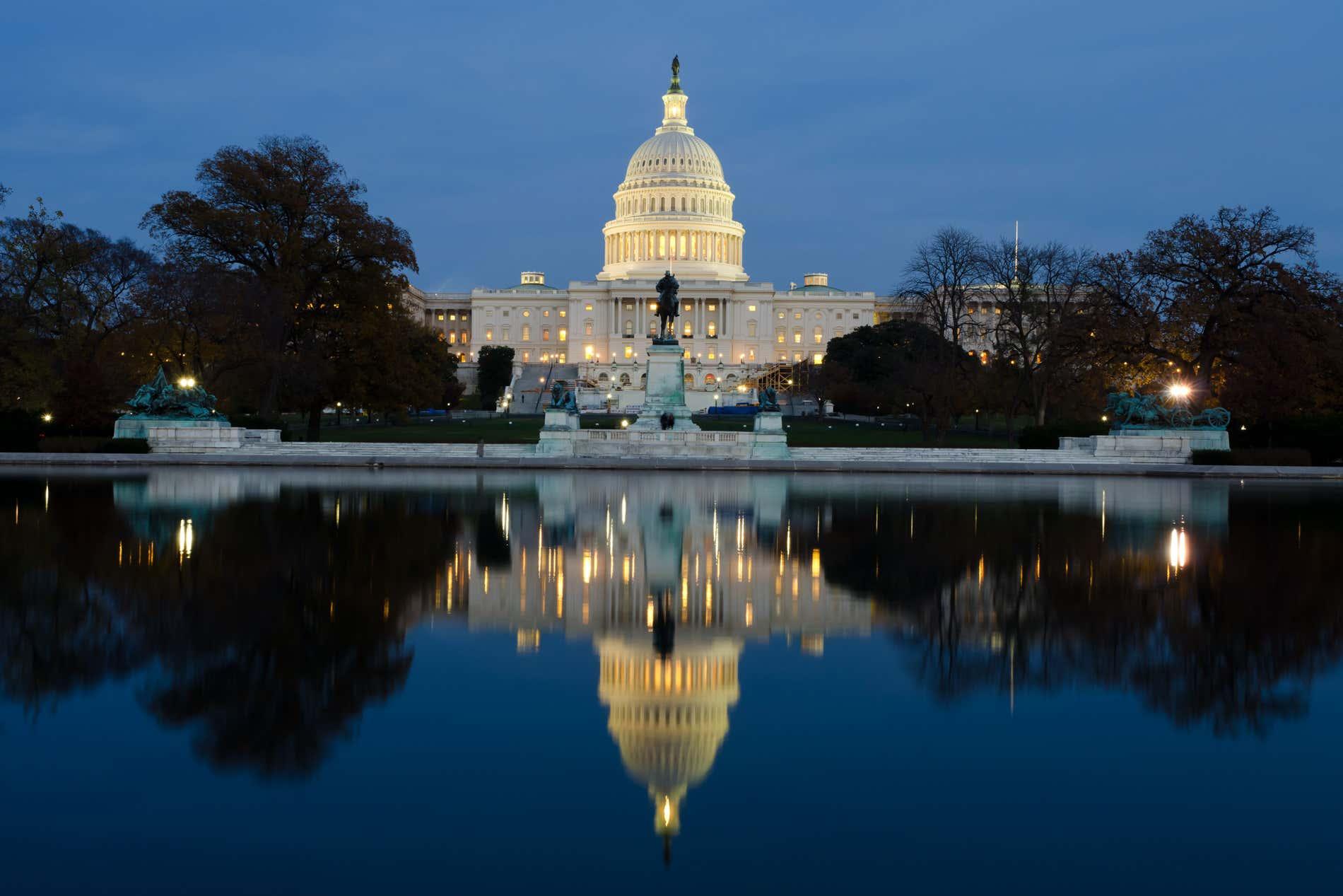 Il Campidoglio, sede del Senato degli Stati Uniti.