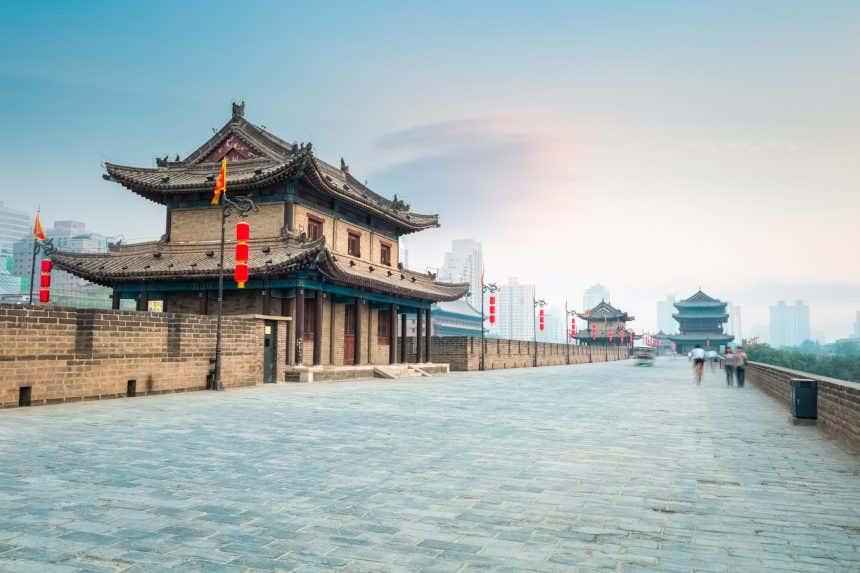 Muralla de la ciudad china de Xián