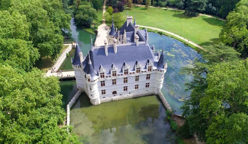 Fosso do castelo de Azay-le-Rideau