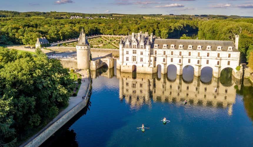 Arcos de Chenonceau. um dos castelos mais bonitos da França