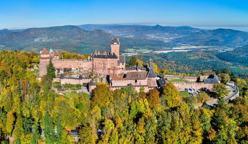 Panorâmica de Haut-Koenigsbourg, um dos 10 castelos mais bonitos da França