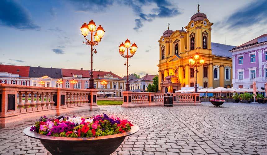 Centro histórico de Timisoara, en Rumanía