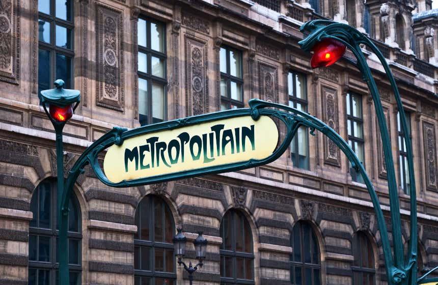 Bouche du métropolitain à Paris