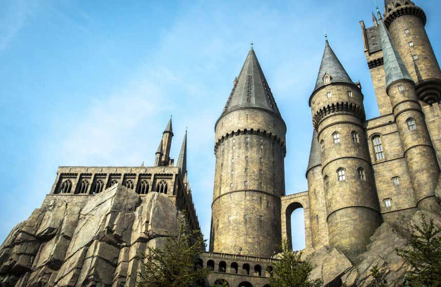 La facciata del Castello di Hogwarts