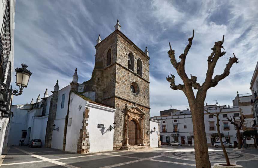 Iglesia de Santa María Magdalena, de estilo manuelino. Parroquia de Olivenza, uno de los pueblos más bonitos de Extremadura.