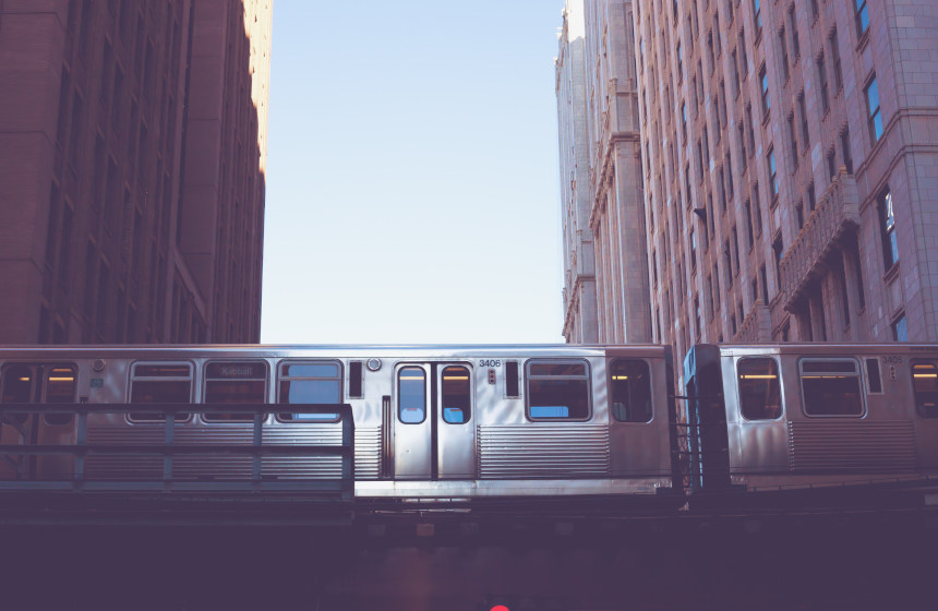 El Chicago 'L' en el exterior, uno de los metros más antiguos del mundo.