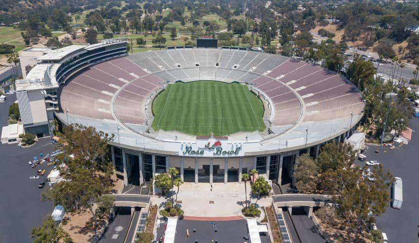 Rose Bowl Stadium, a Pasadena