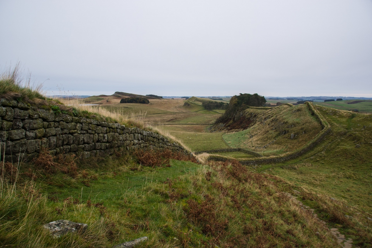 Hadrian's Wall, in the North of England