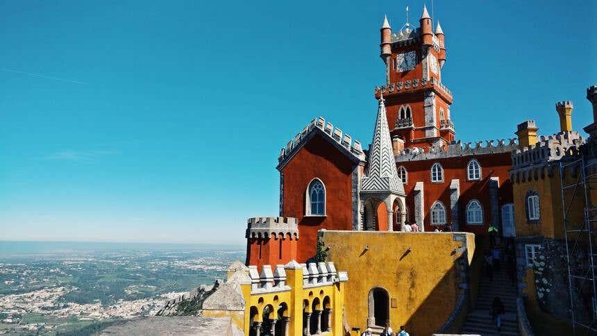 Torres do Palácio de Pena, em Sintra