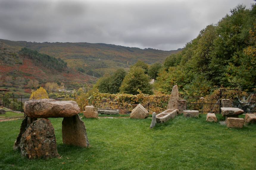 Restos romanos en Baños de Montemayor, Cáceres