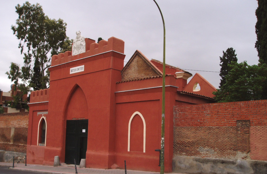 Cementerio británico situado en Carabanchel.