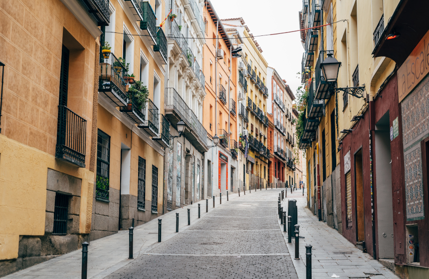 Calle de Lavapiés, barrio donde vivía Luis Candelas.