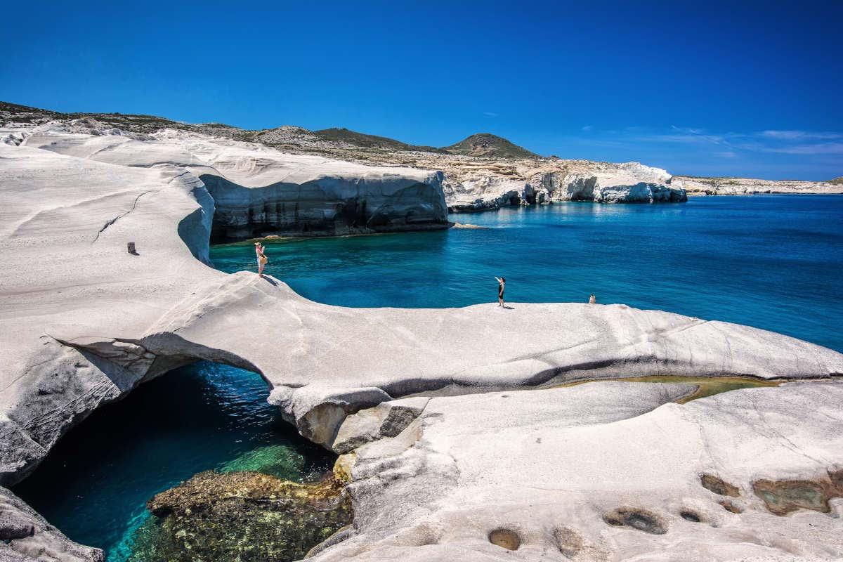 Fenômenos geológicos da ilha vulcânica de Milos