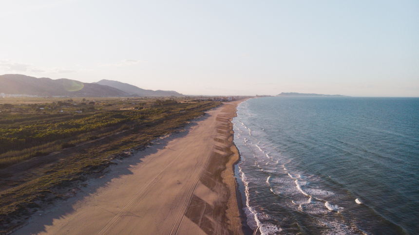 Playa del Ahuir, en Gandía.