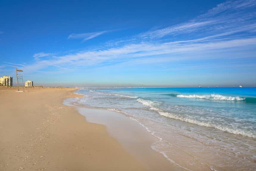 Playa del Saler, en Valencia.