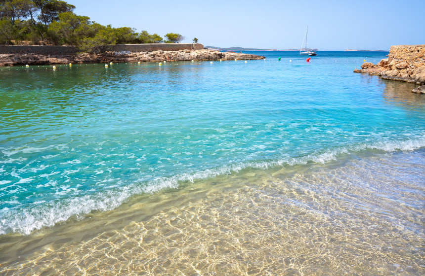 Cala Gracioneta, una de las más bellas de Ibiza.