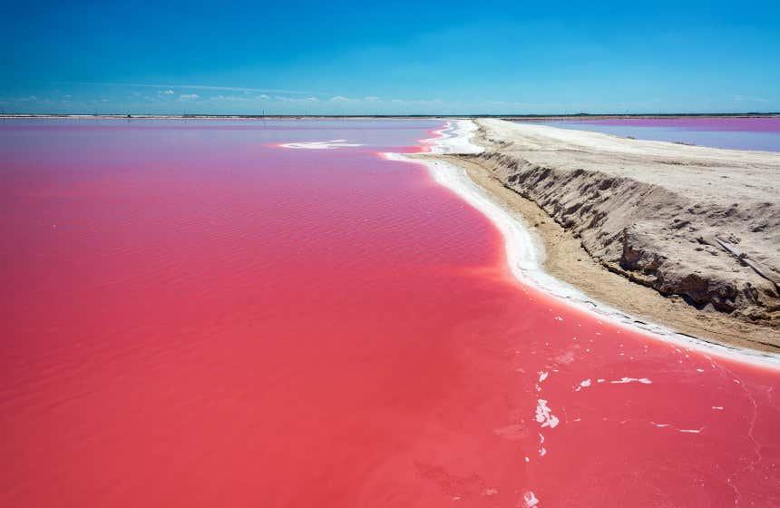 Las Coloradas, uno de los lagos más importantes de México.