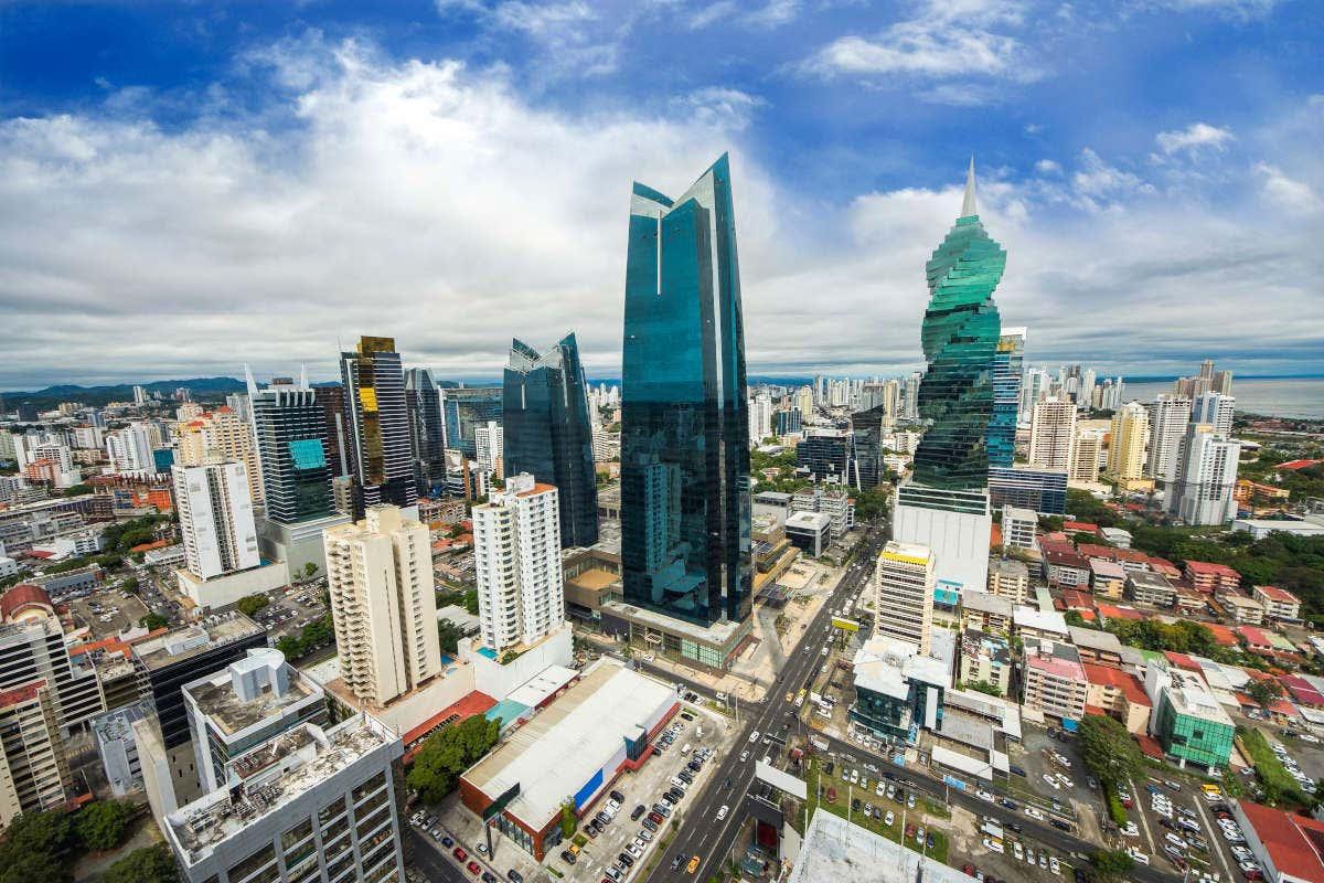 Vistas dos arranha-céus da Cidade do Panamá