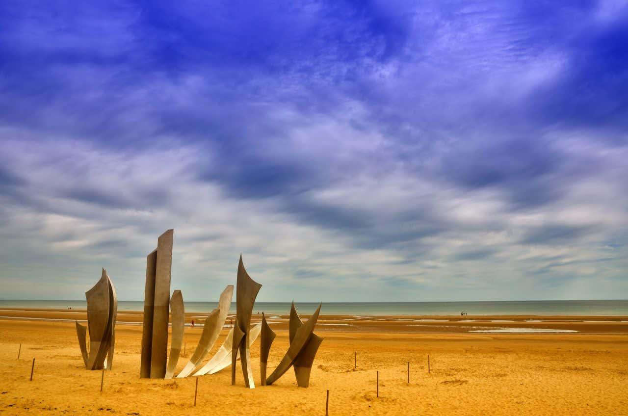 Omaha Beach, une des plages historiques de France