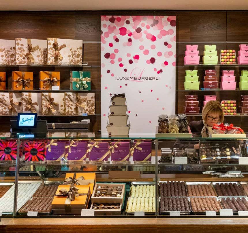 Chocolataria em Bahnhofstrasse, Zurique.