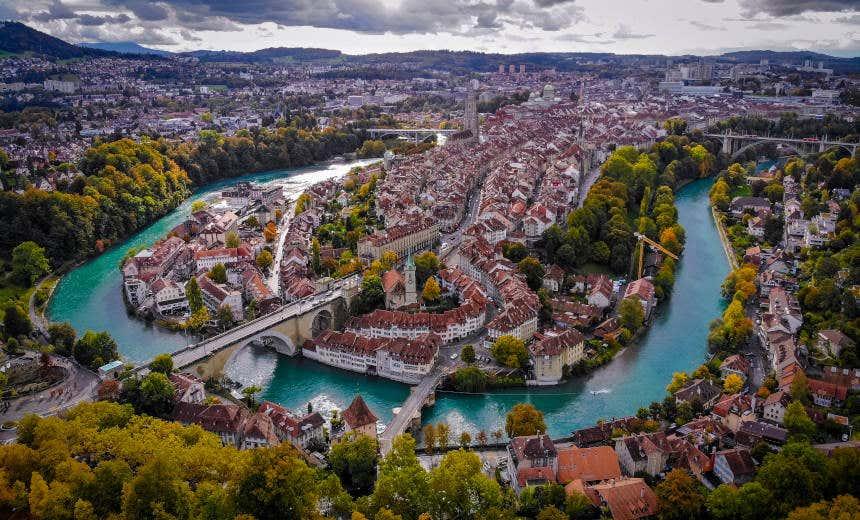 Vista panorâmica da cidade de Berna.