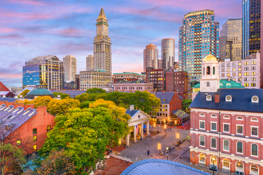 Edifícios do centro de Boston