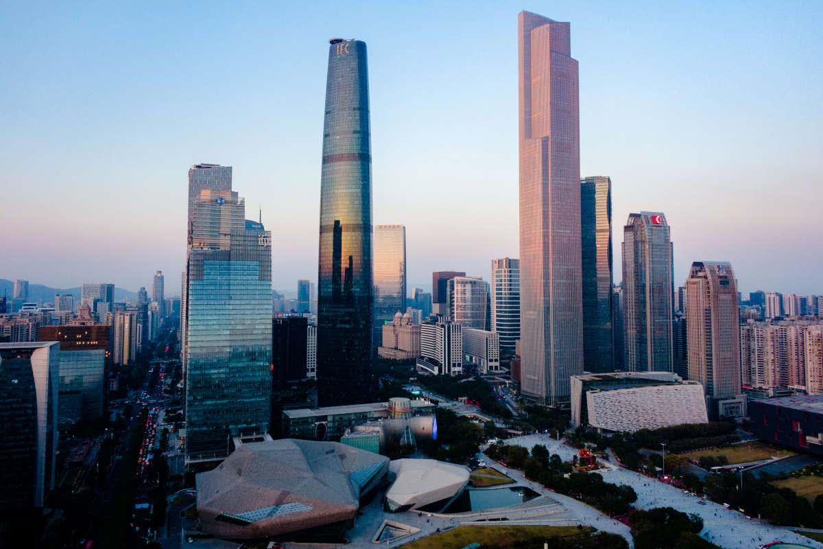 Panorámica al amanecer de Guangzhou