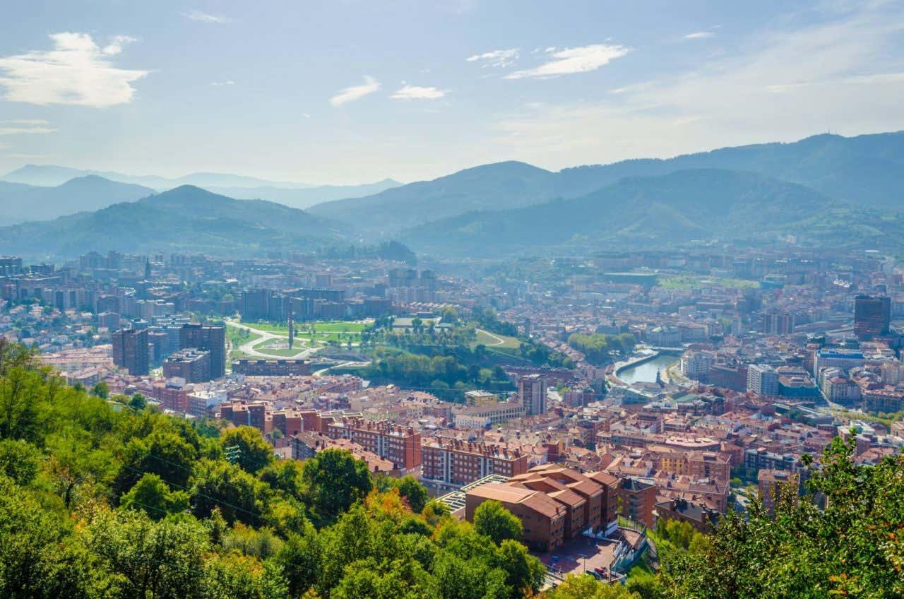 Vistas de Bilbao desde el Monte Artxanda