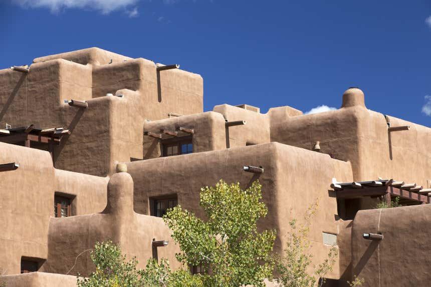 Casas de adobe em Santa Fe