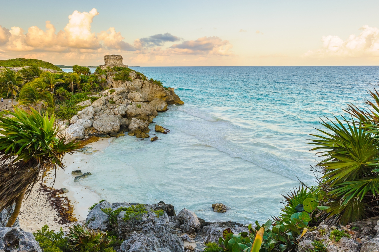 Sur la côte de la Riviera Maya (Mexique).